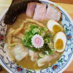 「濃厚魚介豚骨ワンタン麺」ぬーじボンボンメンデス(那覇市)